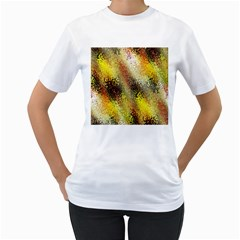 Multi Colored Seamless Abstract Background Women s T Shirt (white) (two Sided)