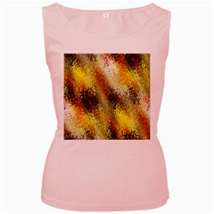 Multi Colored Seamless Abstract Background Women s Pink Tank Top