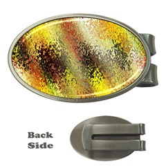 Multi Colored Seamless Abstract Background Money Clips (oval)