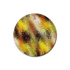 Multi Colored Seamless Abstract Background Rubber Coaster (Round)