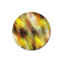 Multi Colored Seamless Abstract Background Magnet 3  (round)