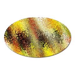 Multi Colored Seamless Abstract Background Oval Magnet