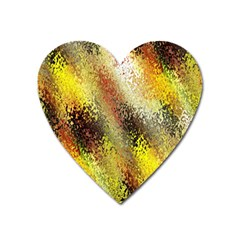 Multi Colored Seamless Abstract Background Heart Magnet