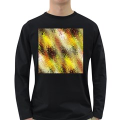 Multi Colored Seamless Abstract Background Long Sleeve Dark T-Shirts