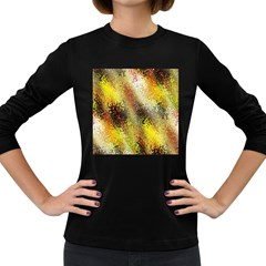 Multi Colored Seamless Abstract Background Women s Long Sleeve Dark T Shirts