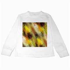 Multi Colored Seamless Abstract Background Kids Long Sleeve T Shirts