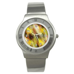 Multi Colored Seamless Abstract Background Stainless Steel Watch