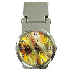 Multi Colored Seamless Abstract Background Money Clip Watches