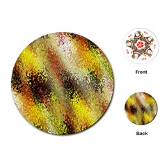 Multi Colored Seamless Abstract Background Playing Cards (Round)