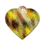 Multi Colored Seamless Abstract Background Dog Tag Heart (One Side) Front