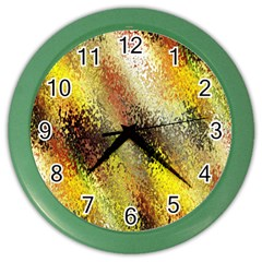 Multi Colored Seamless Abstract Background Color Wall Clocks