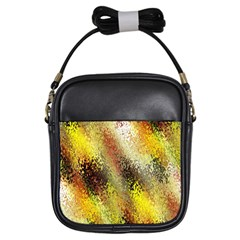 Multi Colored Seamless Abstract Background Girls Sling Bags