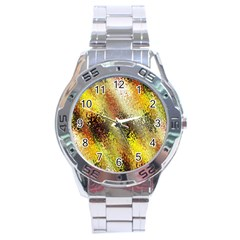 Multi Colored Seamless Abstract Background Stainless Steel Analogue Watch
