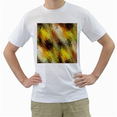 Multi Colored Seamless Abstract Background Men s T-Shirt (White)