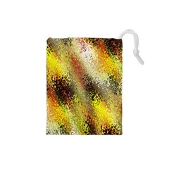 Multi Colored Seamless Abstract Background Drawstring Pouches (Small)