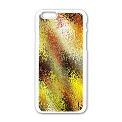 Multi Colored Seamless Abstract Background Apple iPhone 6/6S White Enamel Case