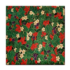 Berries And Leaves Tile Coasters