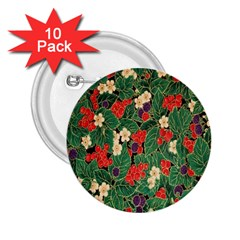 Berries And Leaves 2 25  Buttons (10 Pack)