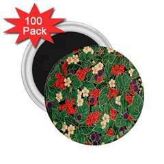 Berries And Leaves 2 25  Magnets (100 Pack)