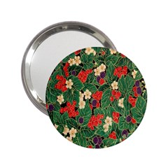 Berries And Leaves 2 25  Handbag Mirrors