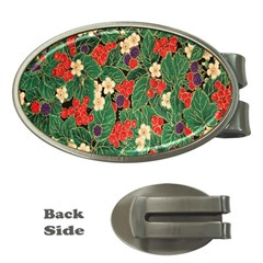 Berries And Leaves Money Clips (oval)