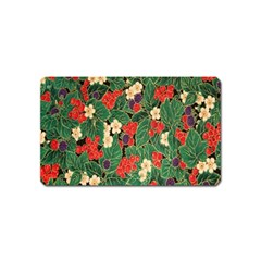 Berries And Leaves Magnet (Name Card)