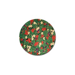 Berries And Leaves Golf Ball Marker (4 Pack)