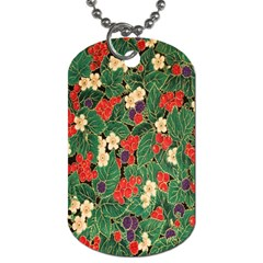 Berries And Leaves Dog Tag (two Sides)