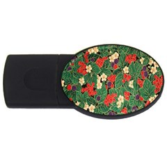 Berries And Leaves USB Flash Drive Oval (2 GB)