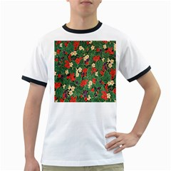 Berries And Leaves Ringer T-Shirts