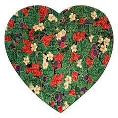 Berries And Leaves Jigsaw Puzzle (heart)