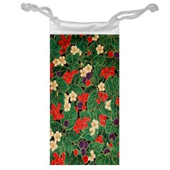 Berries And Leaves Jewelry Bag