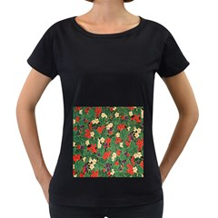 Berries And Leaves Women s Loose Fit T Shirt (black)