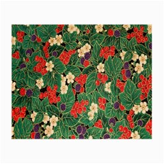 Berries And Leaves Small Glasses Cloth (2 Side)