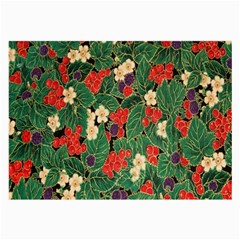 Berries And Leaves Large Glasses Cloth (2 Side)