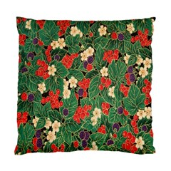 Berries And Leaves Standard Cushion Case (two Sides)
