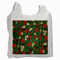Berries And Leaves Recycle Bag (One Side)