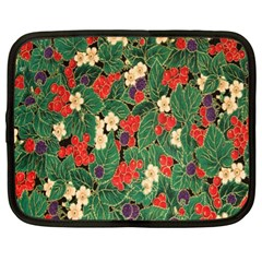Berries And Leaves Netbook Case (xl)