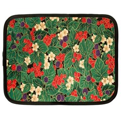 Berries And Leaves Netbook Case (xxl)