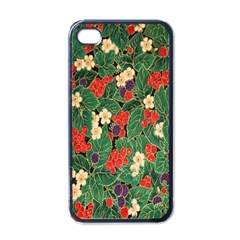 Berries And Leaves Apple Iphone 4 Case (black)
