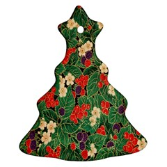 Berries And Leaves Christmas Tree Ornament (two Sides)