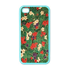 Berries And Leaves Apple Iphone 4 Case (color)