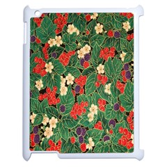 Berries And Leaves Apple iPad 2 Case (White)