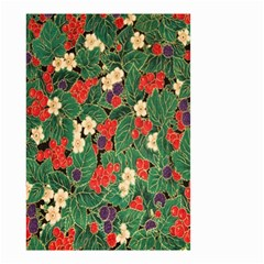 Berries And Leaves Small Garden Flag (Two Sides)