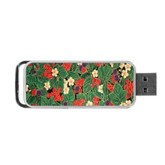 Berries And Leaves Portable USB Flash (Two Sides)