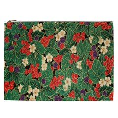 Berries And Leaves Cosmetic Bag (XXL)