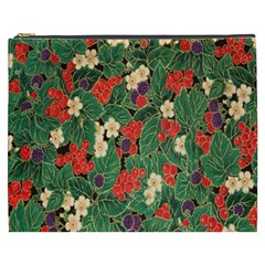 Berries And Leaves Cosmetic Bag (XXXL)