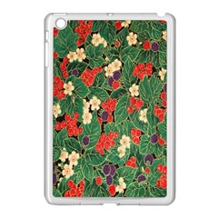 Berries And Leaves Apple iPad Mini Case (White)