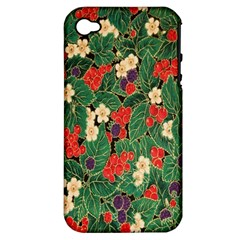 Berries And Leaves Apple iPhone 4/4S Hardshell Case (PC+Silicone)