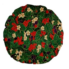 Berries And Leaves Large 18  Premium Round Cushions